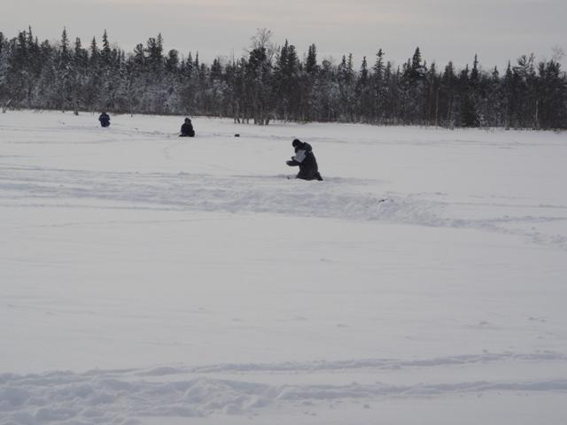 Когда мы вышли на лёд то первым делом